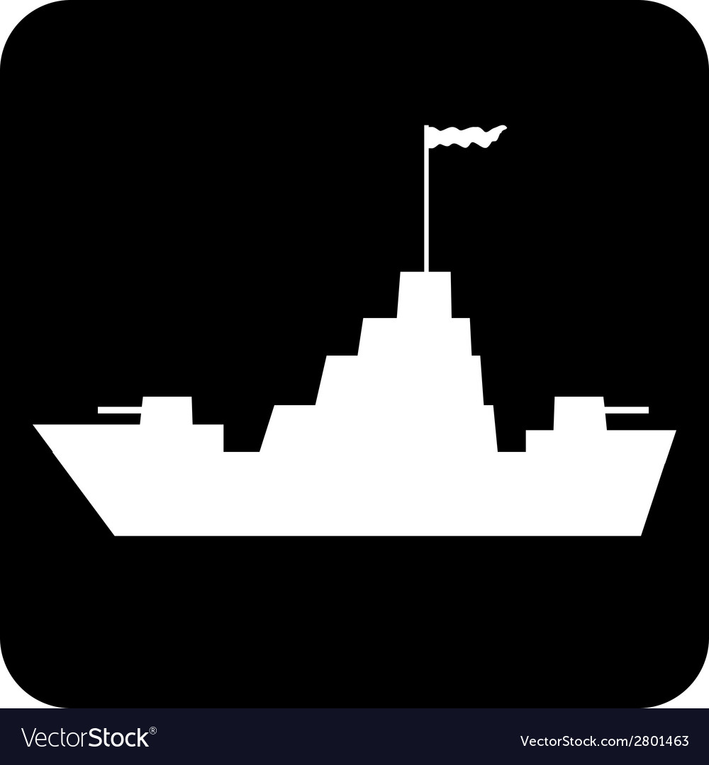 Warship button vector | Price: 1 Credit (USD $1)