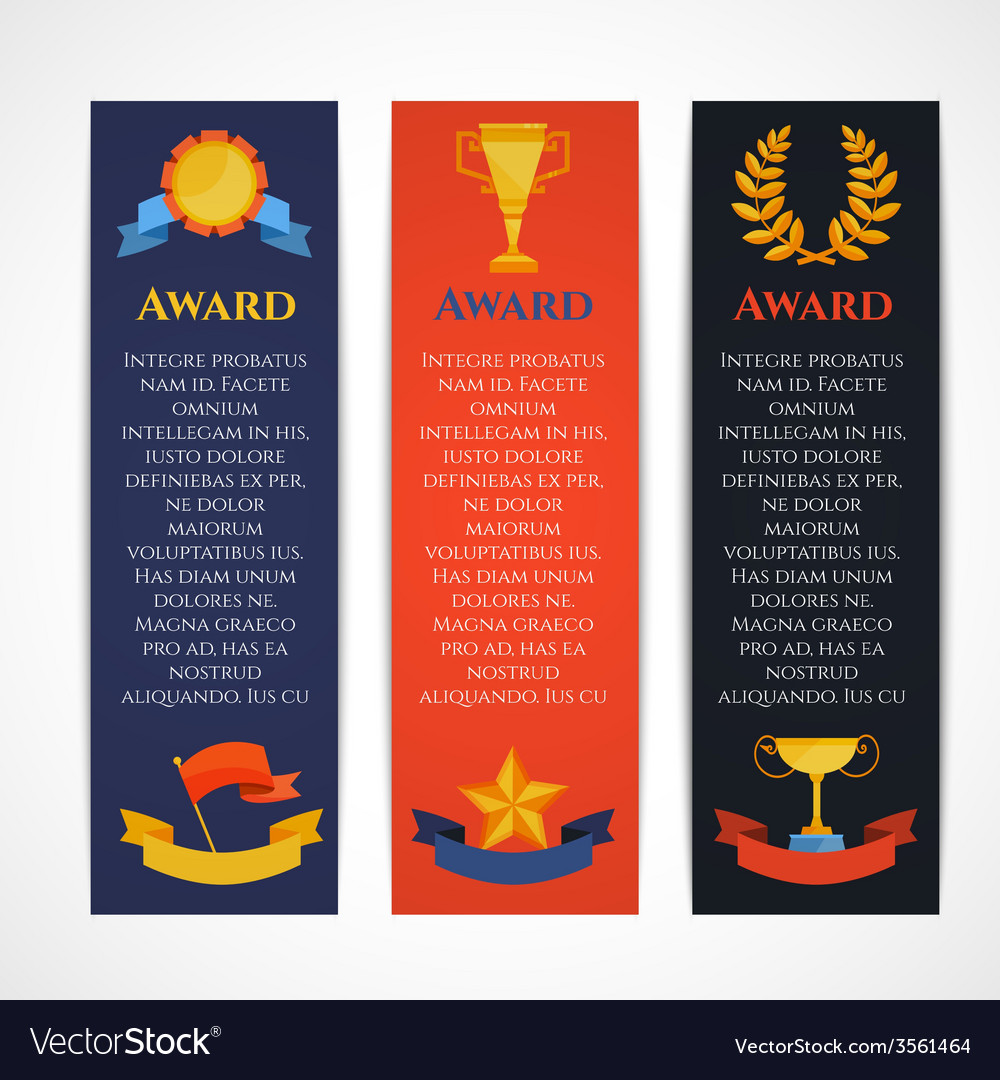 Award banner set vector | Price: 1 Credit (USD $1)