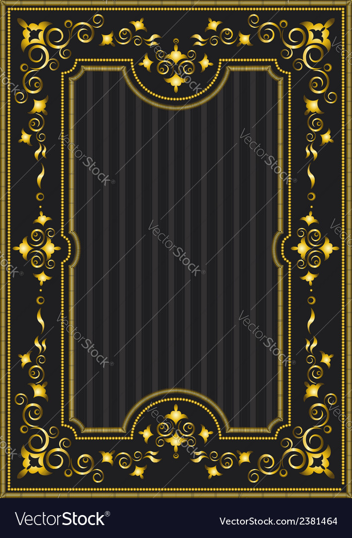 Classical gold frame with oriental pattern vector | Price: 1 Credit (USD $1)