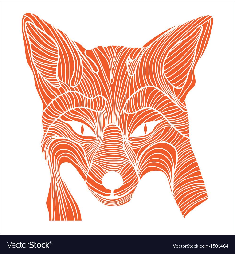 Fox animal sketch tattoo symbol vector | Price: 1 Credit (USD $1)