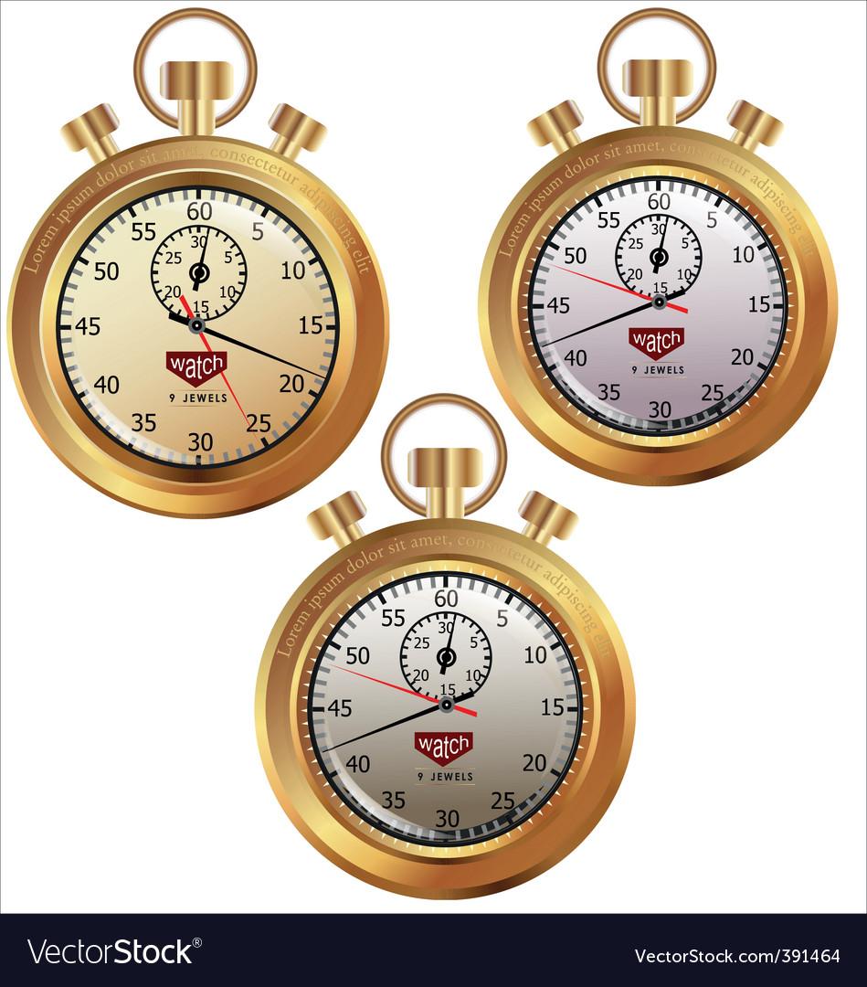 Golden stopwatch vector | Price: 1 Credit (USD $1)
