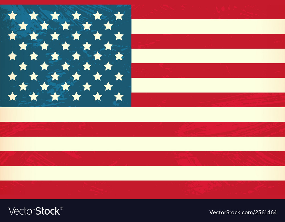 Grunge styled flag of usa vector | Price: 1 Credit (USD $1)