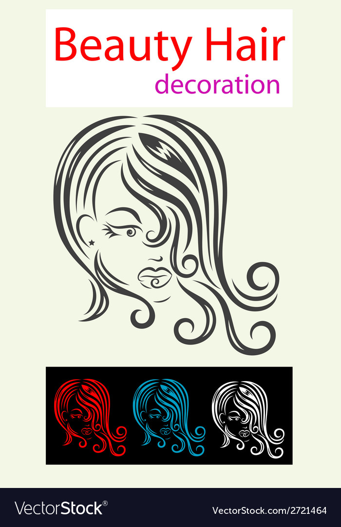 Hair beauty icon vector | Price: 1 Credit (USD $1)