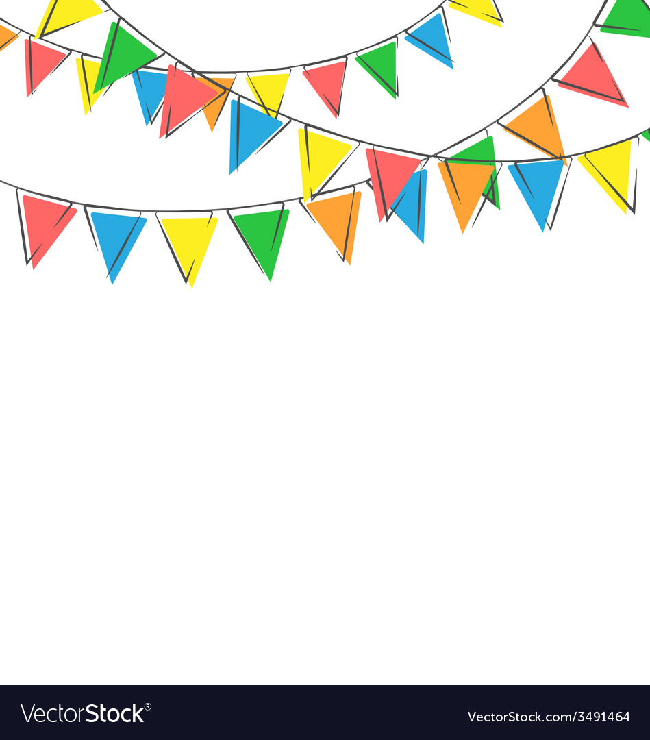 Hand-drawn buntings isolated on white vector | Price: 1 Credit (USD $1)