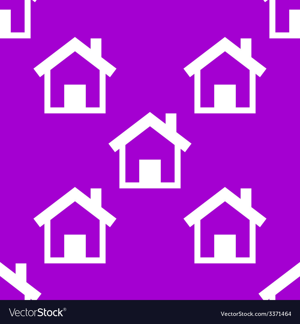 House web icon flat design seamless pattern vector | Price: 1 Credit (USD $1)