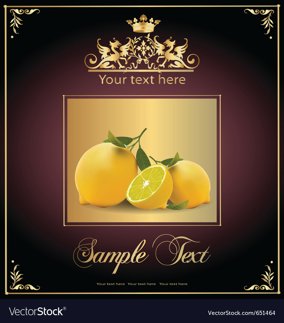 Lemons vector | Price: 1 Credit (USD $1)