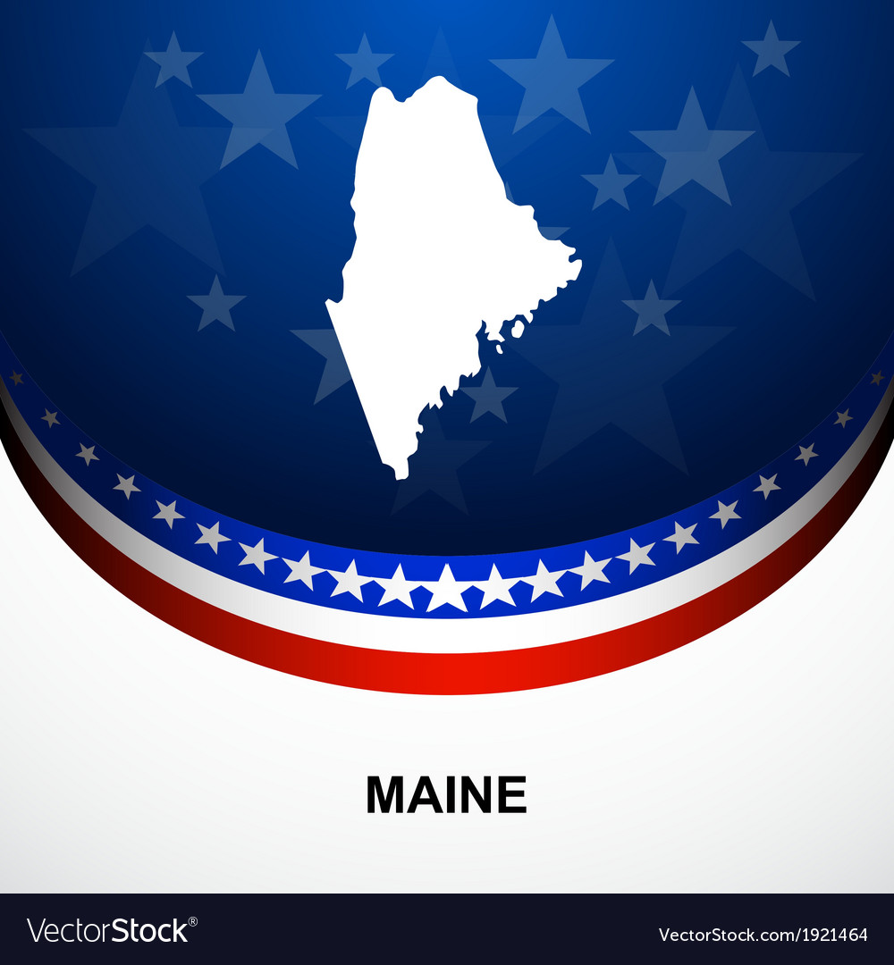 Maine vector | Price: 1 Credit (USD $1)