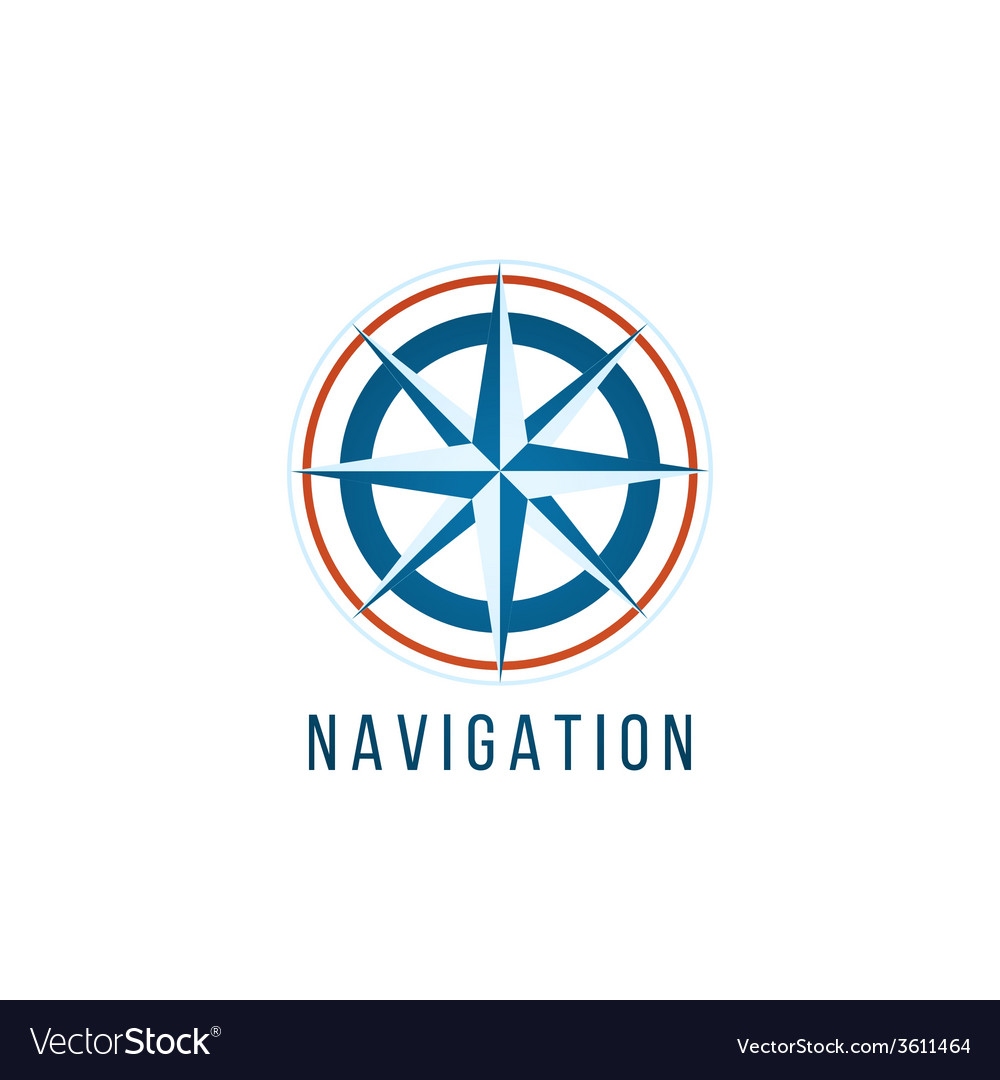 Navigation logo template with compass vector | Price: 1 Credit (USD $1)