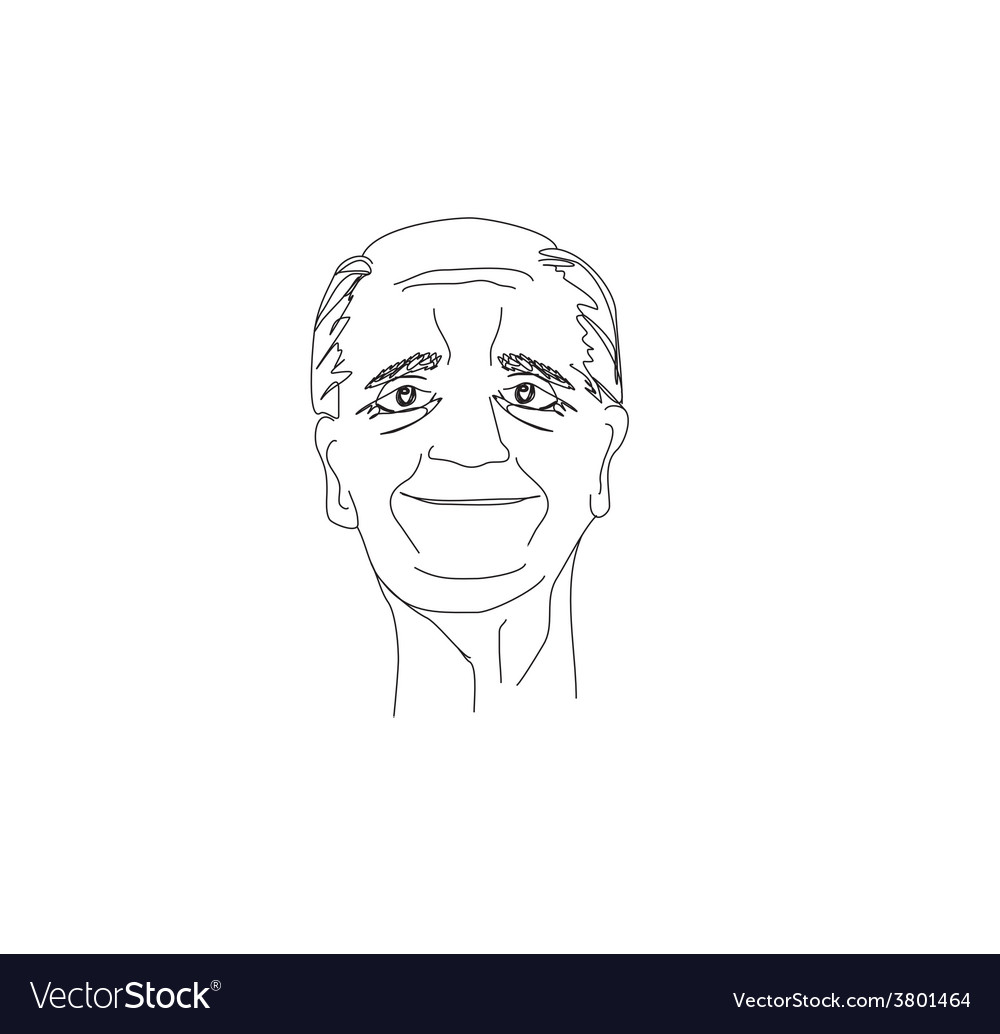 Senior man portrait vector | Price: 1 Credit (USD $1)