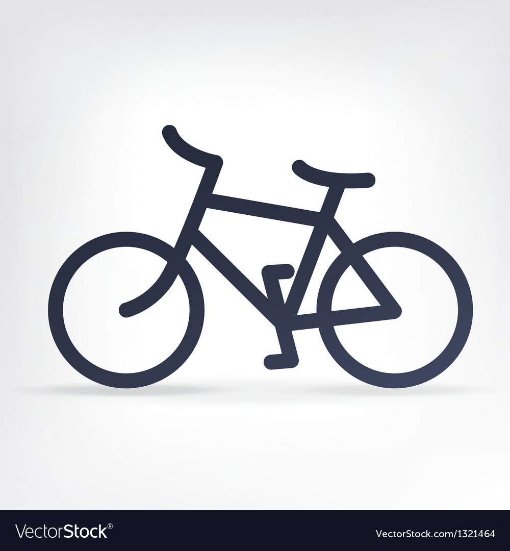 Simple bicycle icon vector | Price: 1 Credit (USD $1)