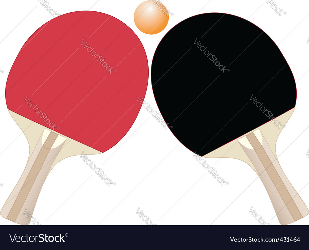 Table tennis rackets vector | Price: 1 Credit (USD $1)
