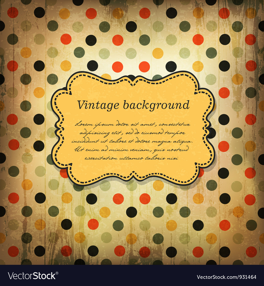 Vintage card design with dot pattern vector | Price: 1 Credit (USD $1)
