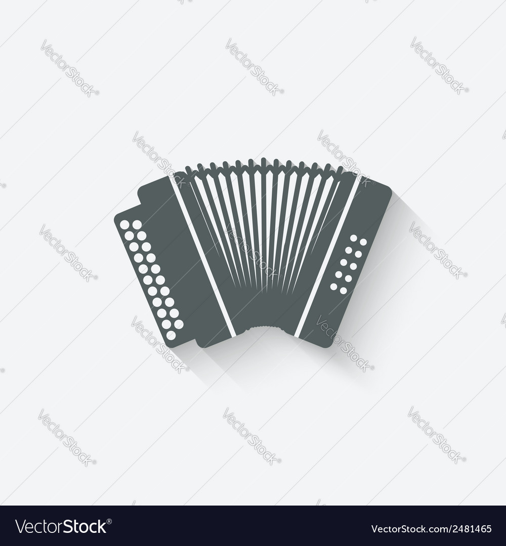Accordion music design element vector | Price: 1 Credit (USD $1)