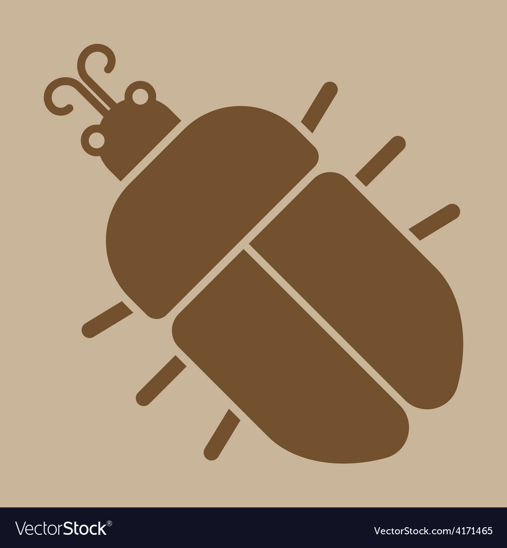 Beetle icon vector | Price: 1 Credit (USD $1)