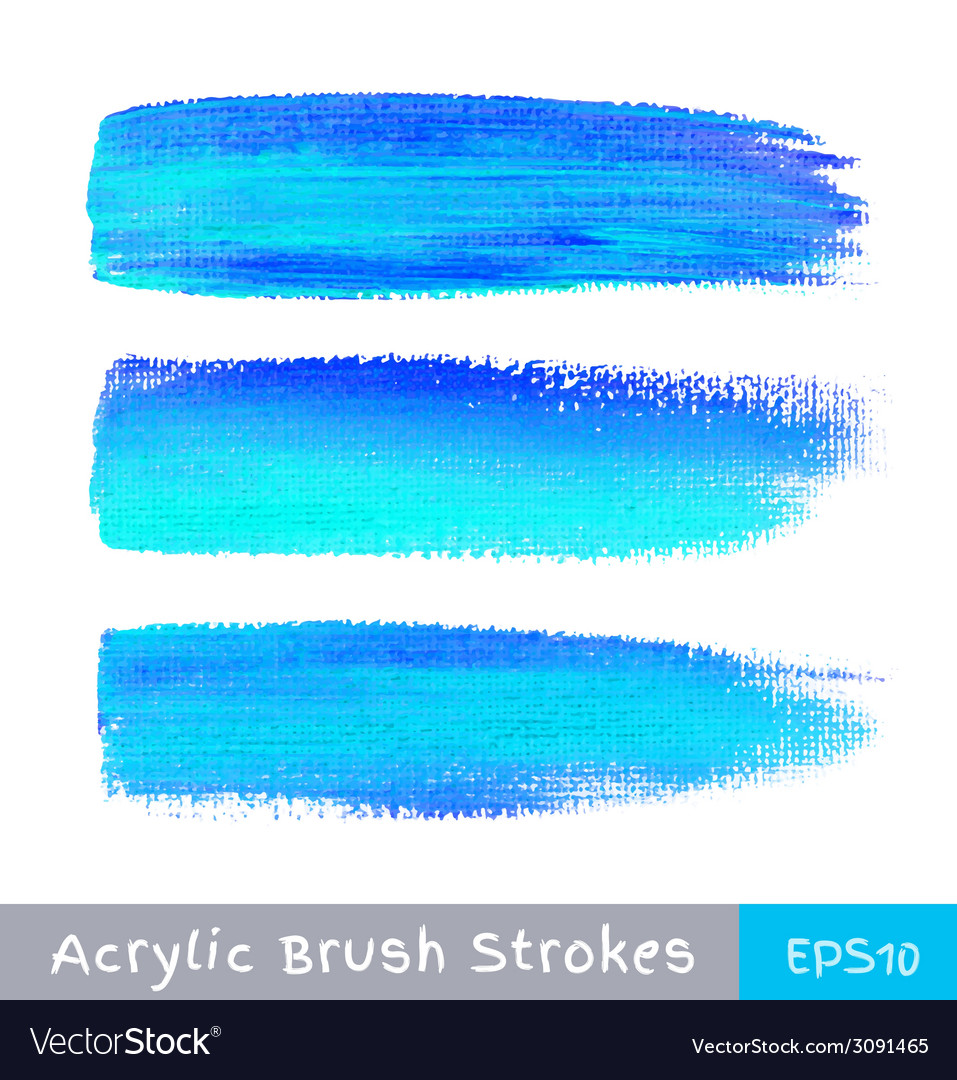 Colorful watercolor brush strokes on canvas vector | Price: 1 Credit (USD $1)