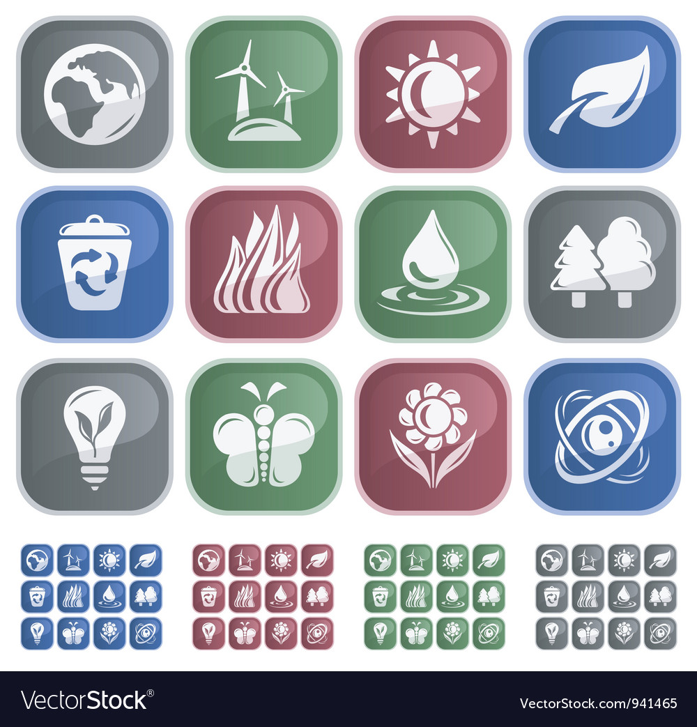 Environment buttons vector | Price: 1 Credit (USD $1)