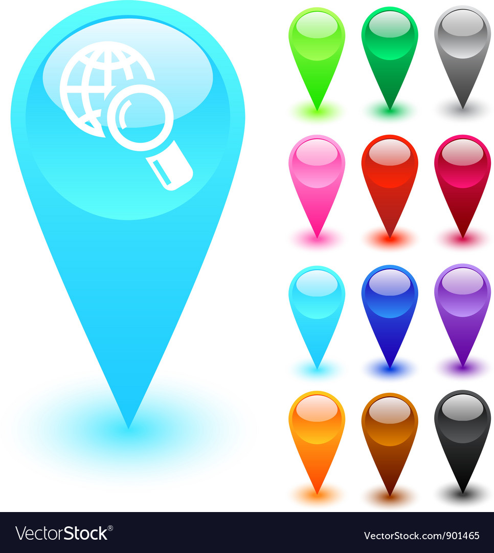 Global search button vector | Price: 1 Credit (USD $1)
