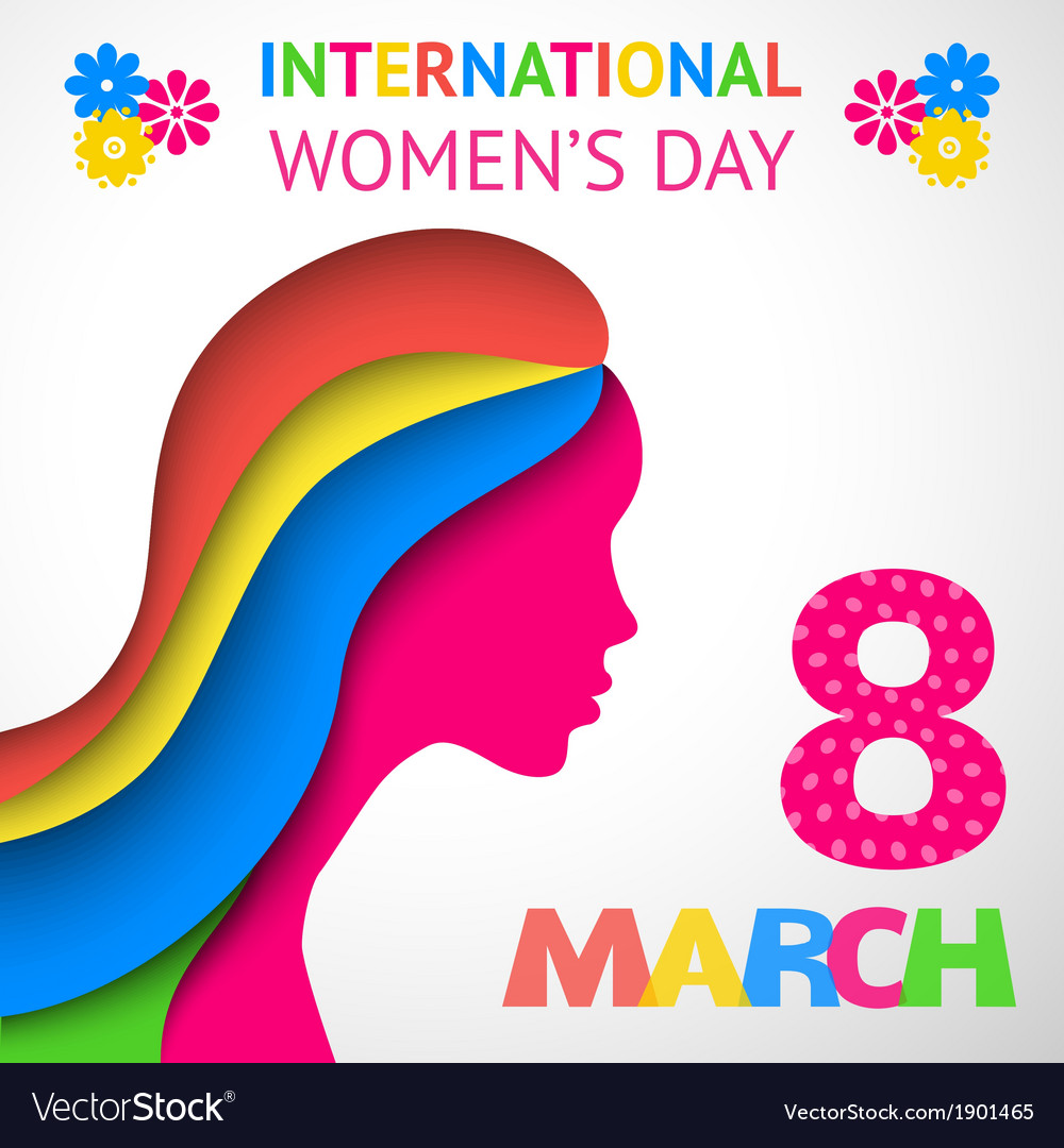 Happy womens day greeting or gift card vector | Price: 1 Credit (USD $1)