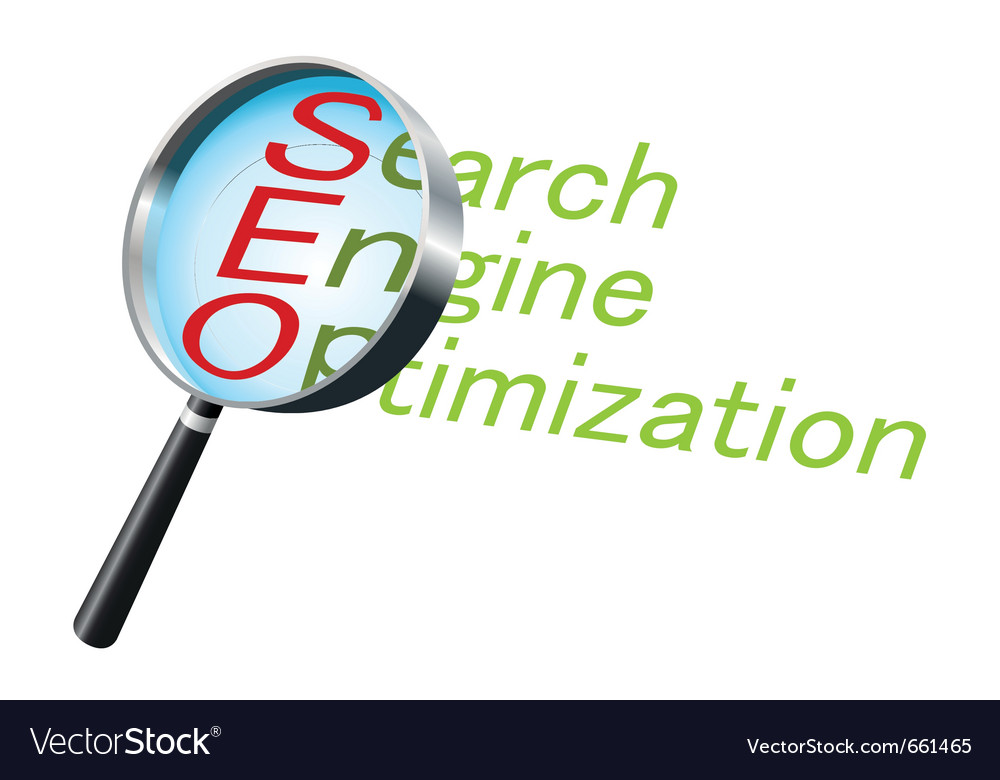 Magnifying glass text label search vector | Price: 1 Credit (USD $1)