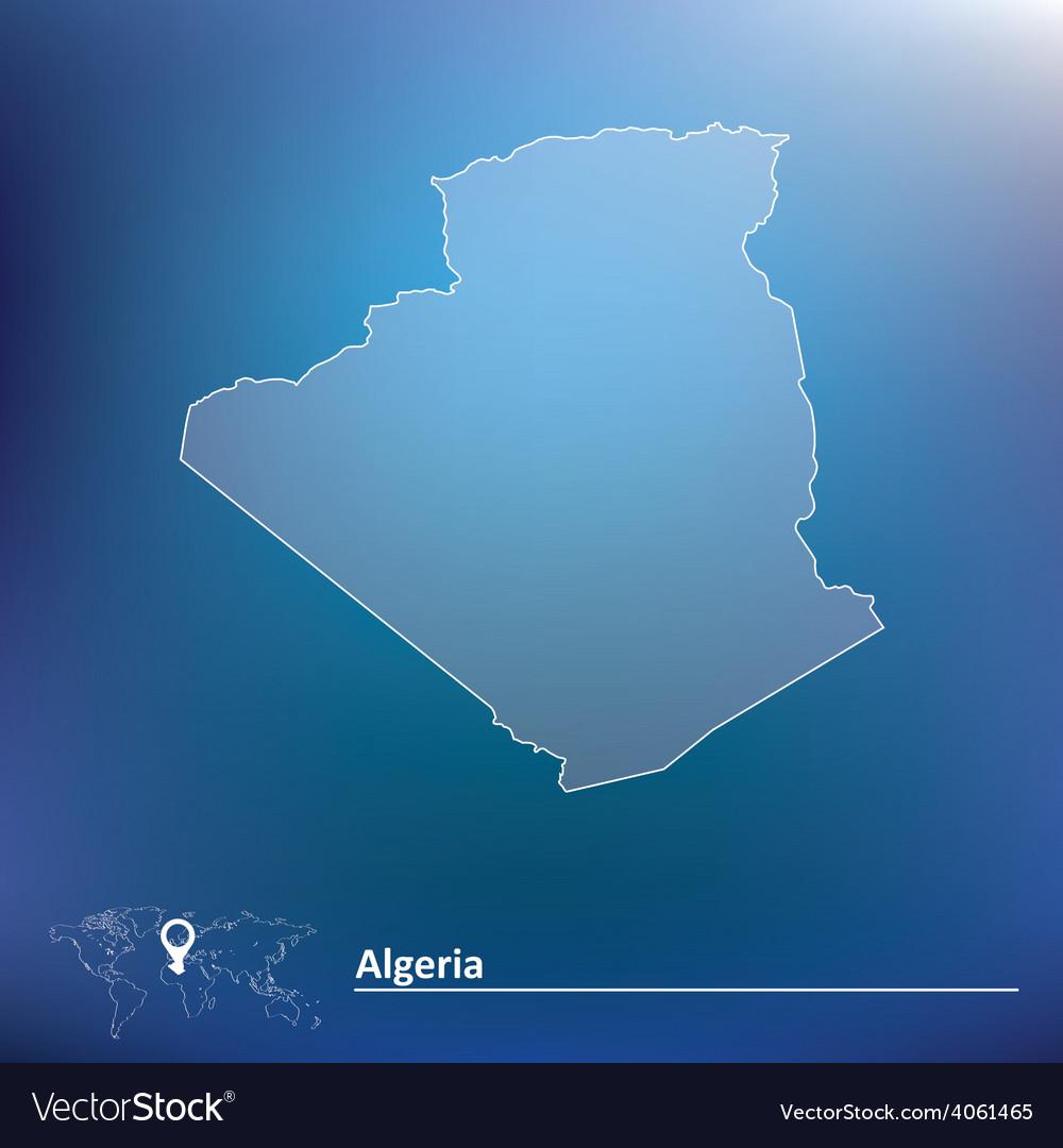 Map of algeria vector | Price: 1 Credit (USD $1)
