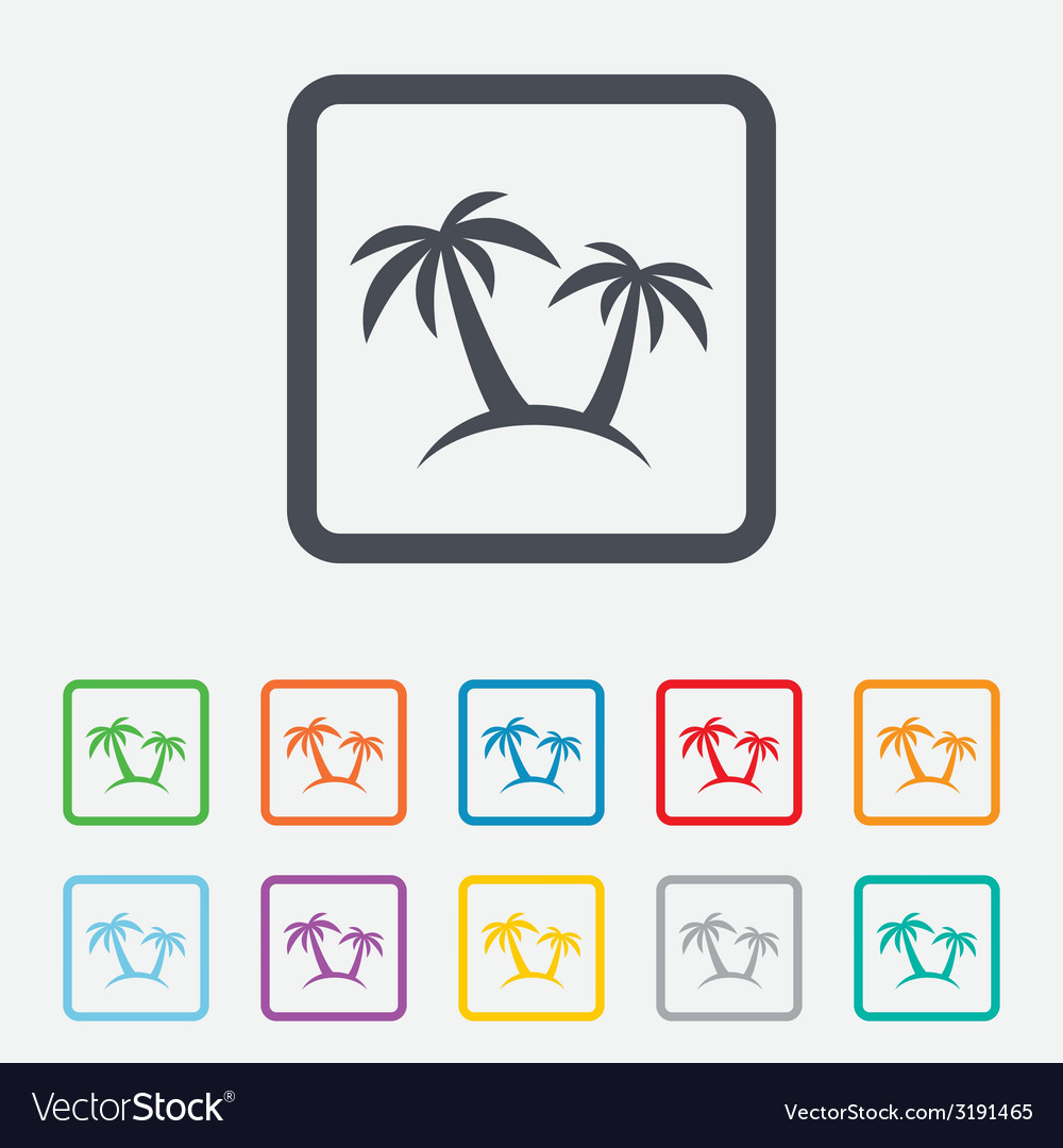 Palm tree sign icon travel trip symbol vector | Price: 1 Credit (USD $1)