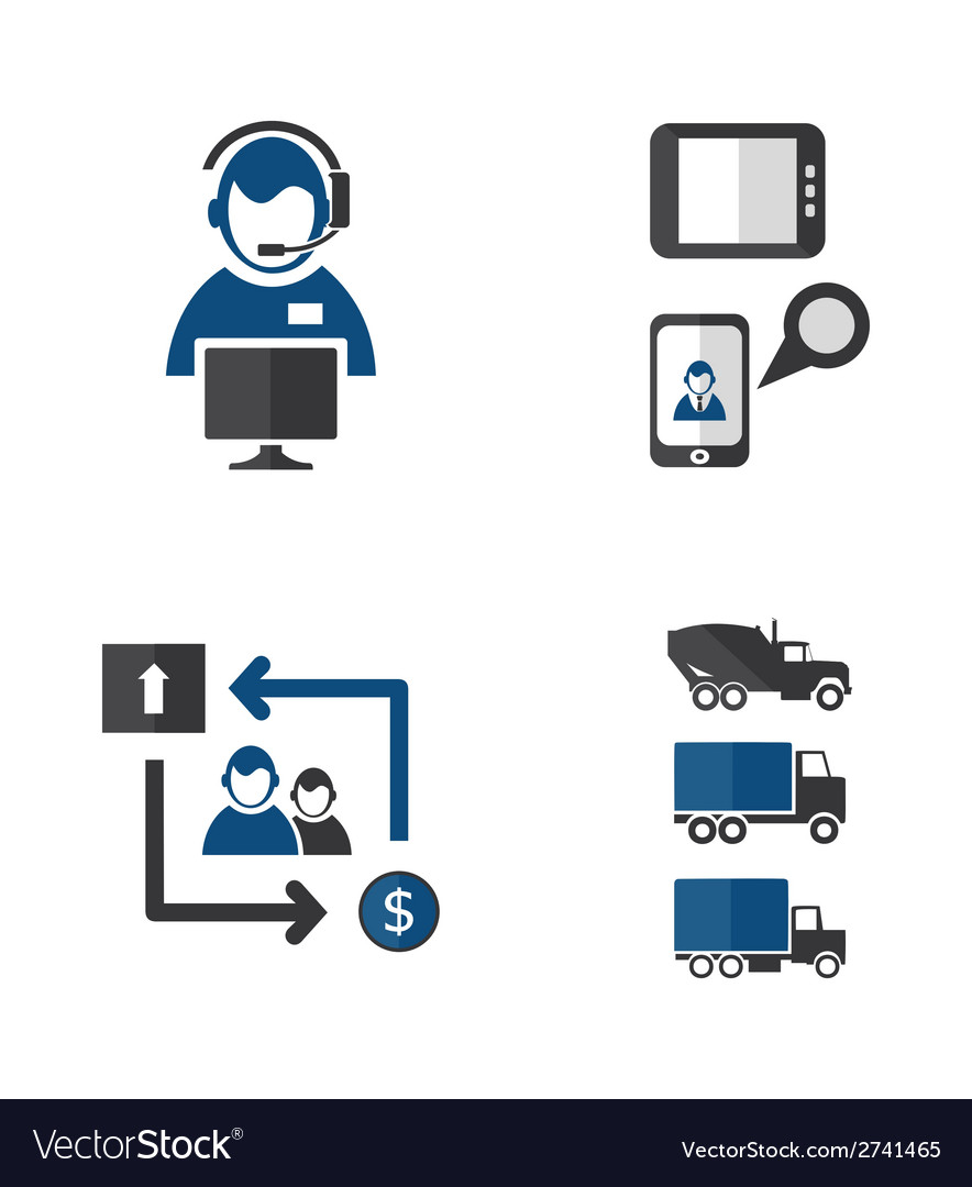 Process icons vector | Price: 1 Credit (USD $1)