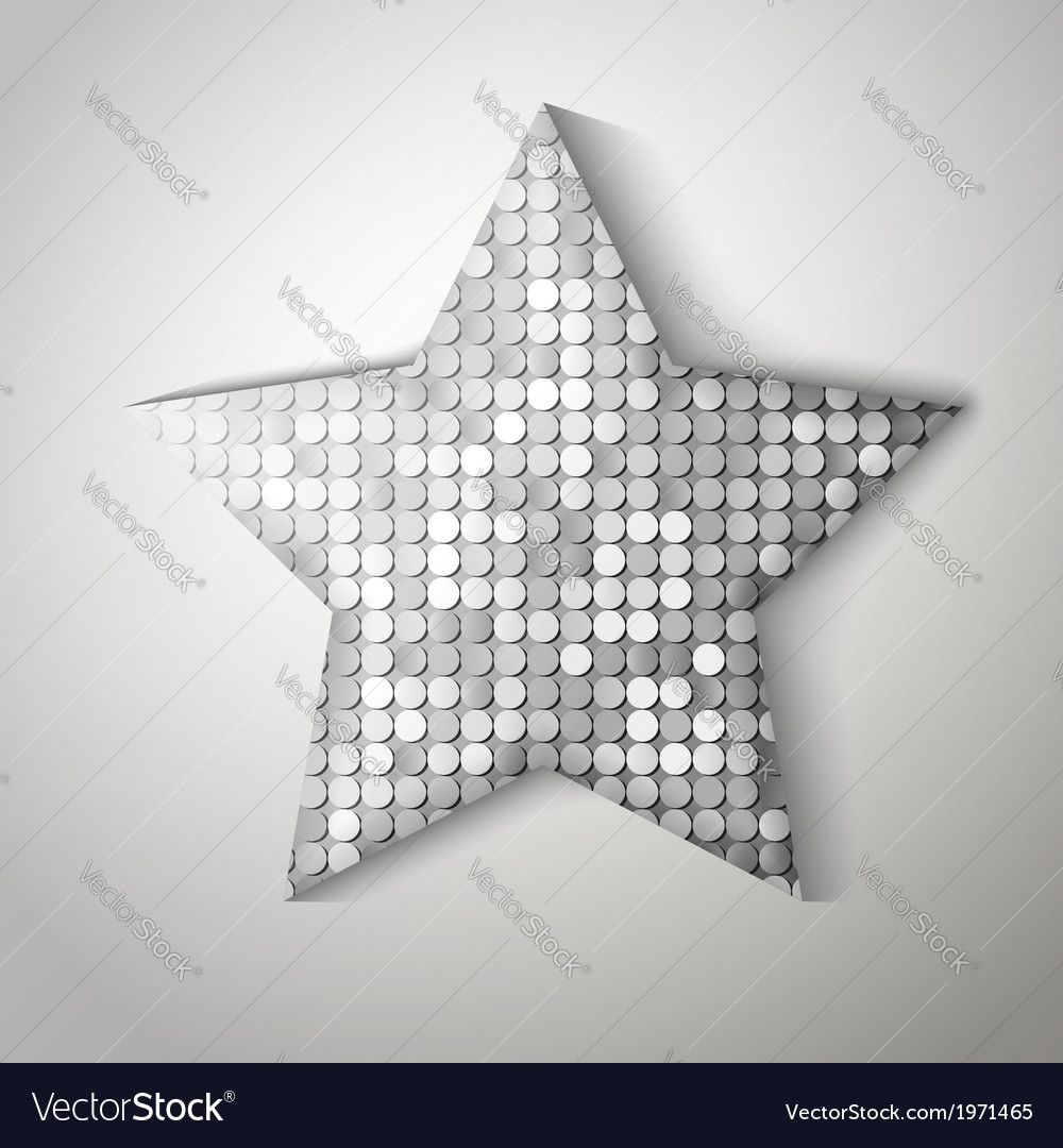 Shiny sequins star eps 10 vector | Price: 1 Credit (USD $1)