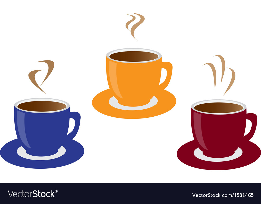 Three cups of coffee vector | Price: 1 Credit (USD $1)