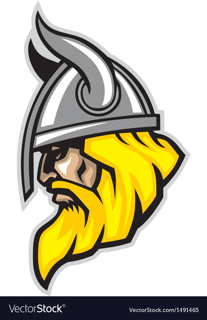 Viking head mascot vector | Price: 1 Credit (USD $1)