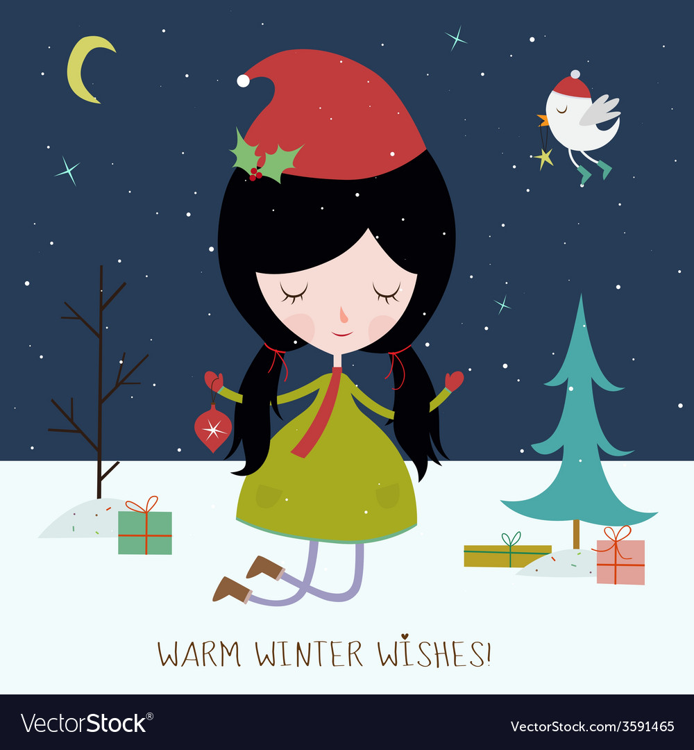 Winter holiday background or card vector | Price: 1 Credit (USD $1)