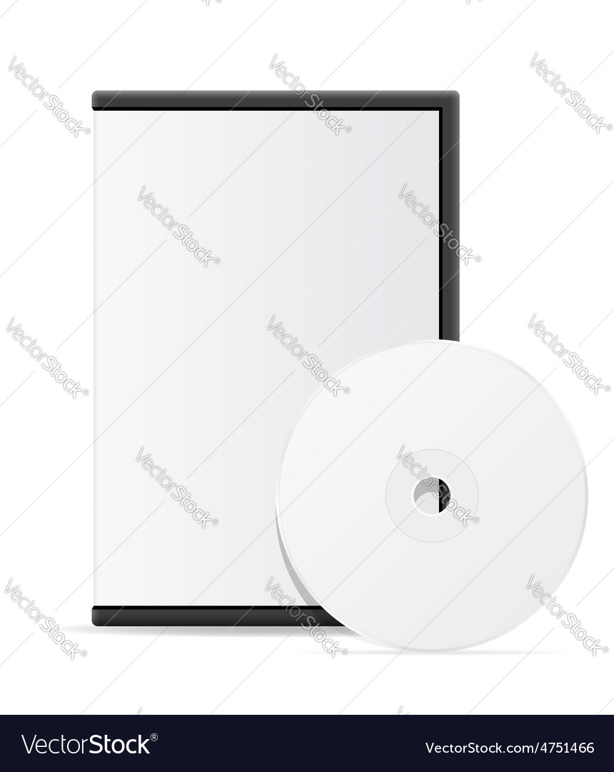 Cd and dvd bisk box packing 08 vector