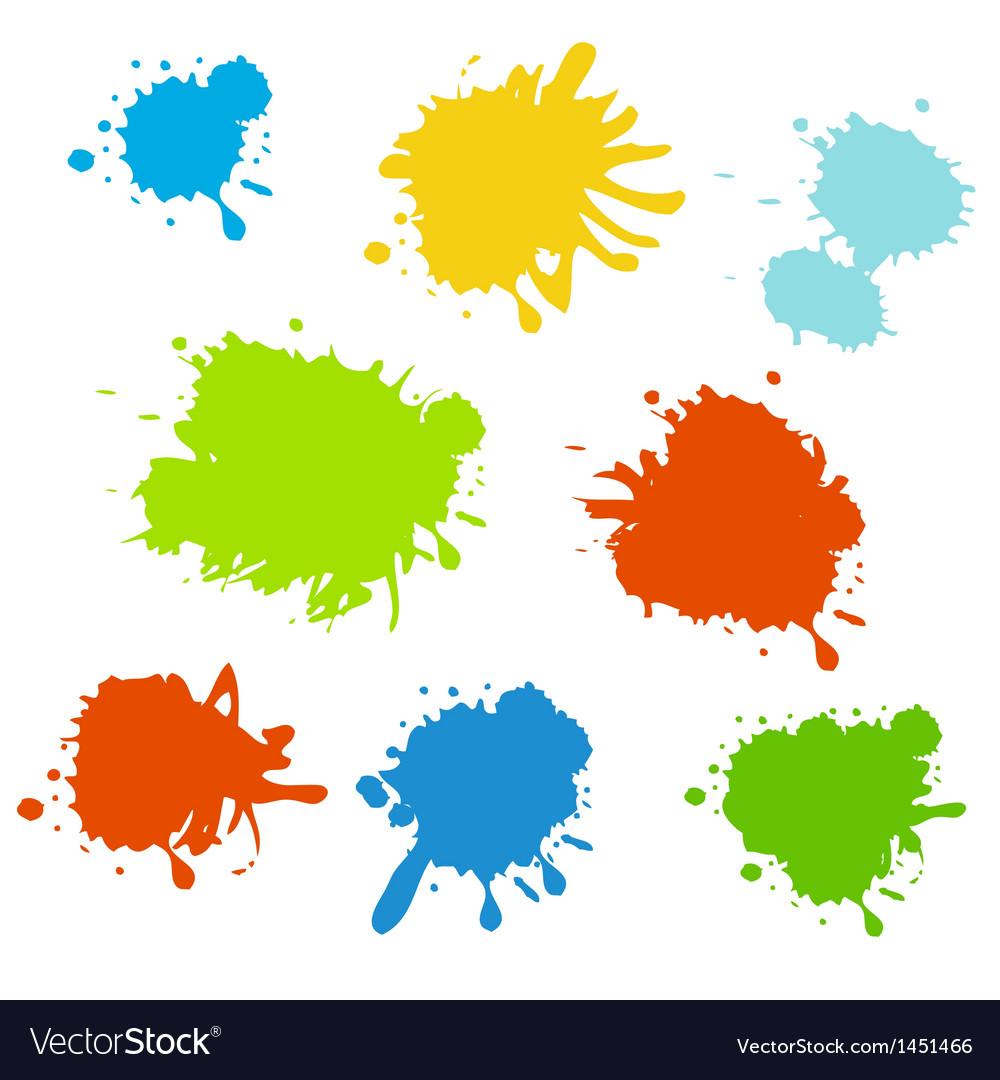 Colorful paint splash vector   Price: 1 Credit (USD $1)