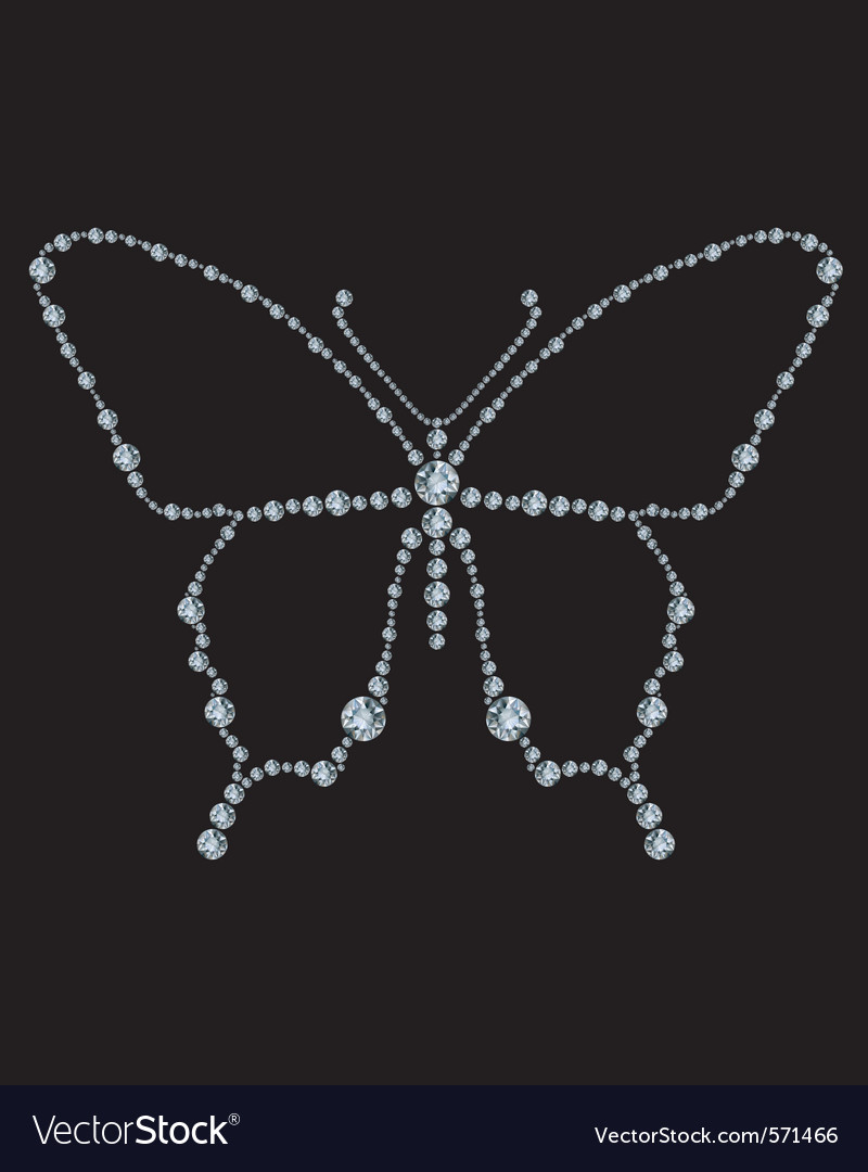 Diamond butterfly vector | Price: 1 Credit (USD $1)