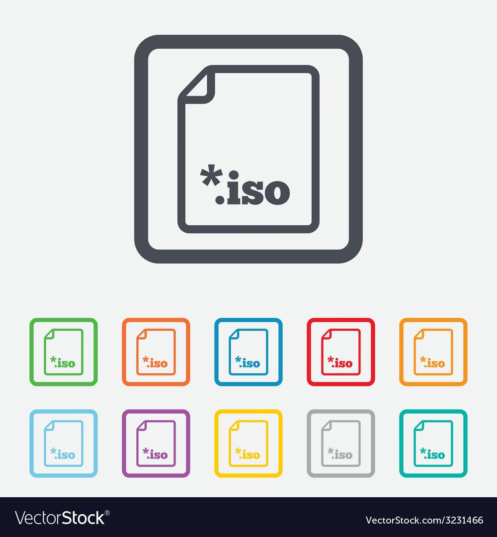 File iso icon download virtual drive file vector   Price: 1 Credit (USD $1)