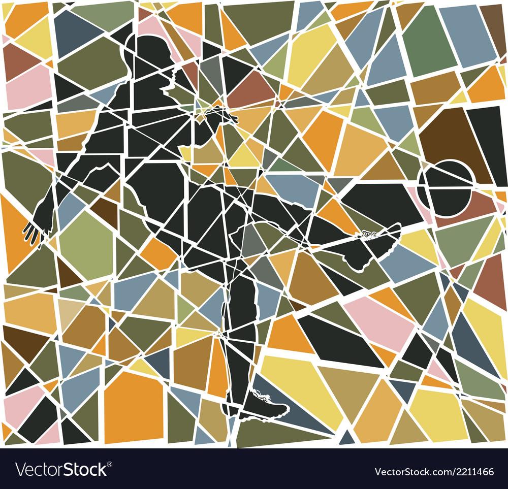 Footballer mosaic vector | Price: 1 Credit (USD $1)
