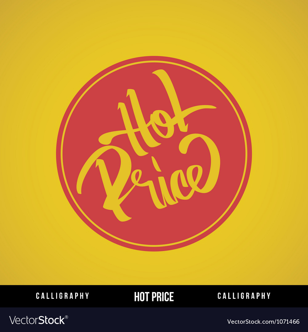 Hot price lettering vector | Price: 1 Credit (USD $1)