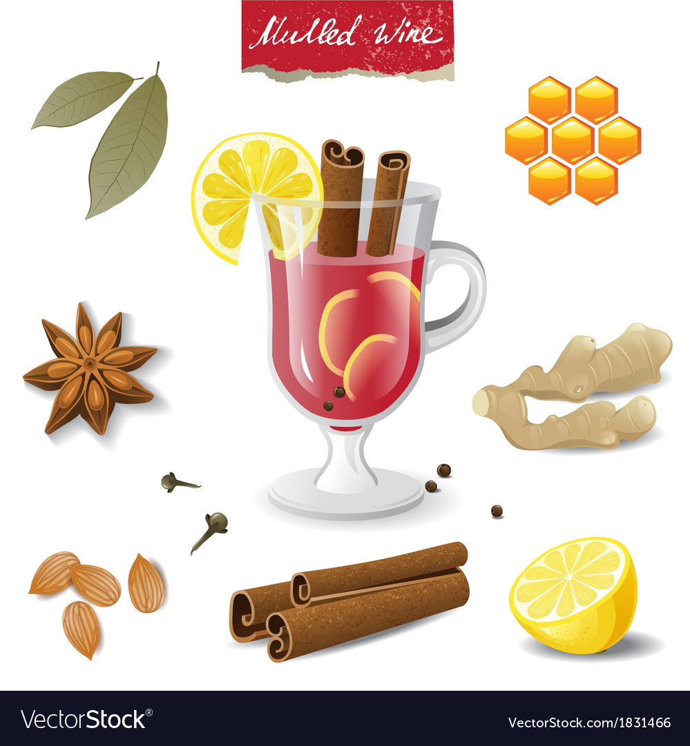 Mulled wine icons vector | Price: 1 Credit (USD $1)