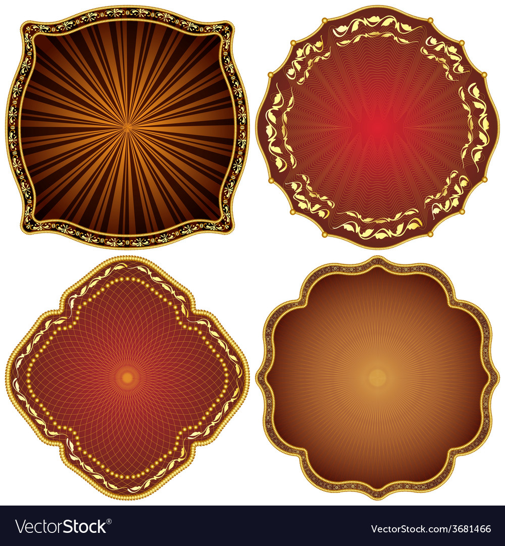 Ornate decorative golden frames vector | Price: 1 Credit (USD $1)