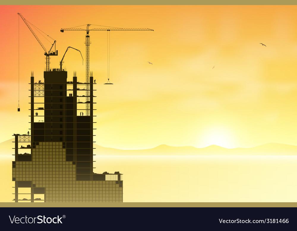 Tower cranes vector | Price: 1 Credit (USD $1)