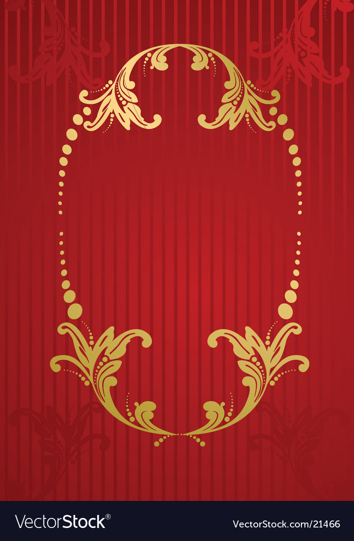 Wallpaper with floral frame vector | Price: 1 Credit (USD $1)