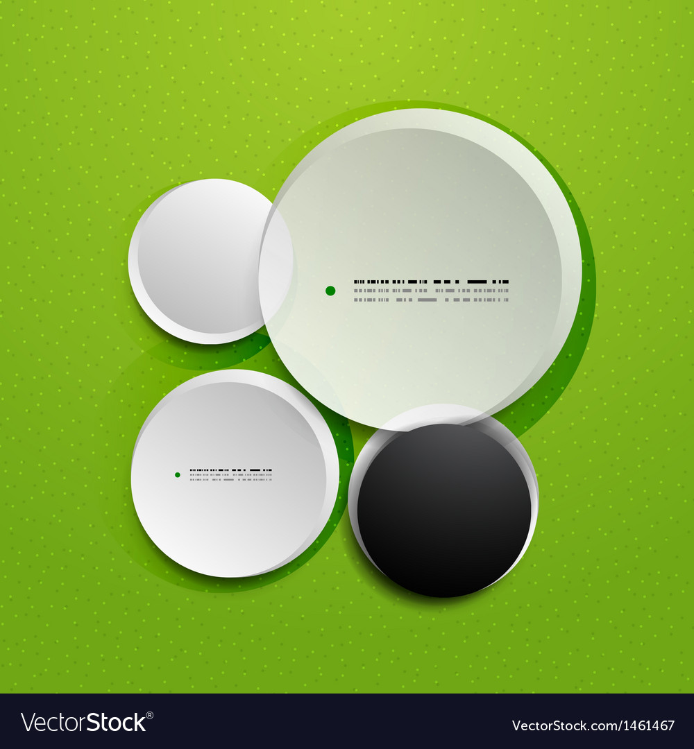 Abstract 3d paper empty circles template vector | Price: 1 Credit (USD $1)