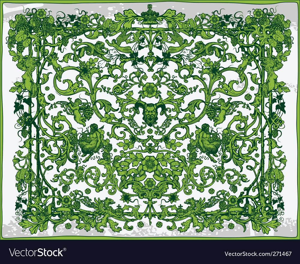 Antique frame decoration vector | Price: 3 Credit (USD $3)