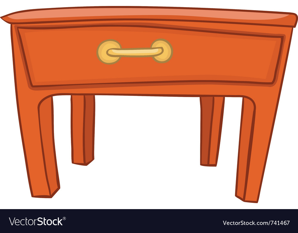 Cartoon home furniture table vector | Price: 1 Credit (USD $1)