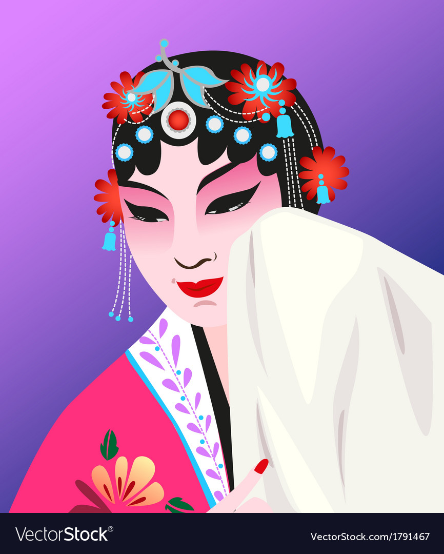 Chinese opera vector | Price: 1 Credit (USD $1)