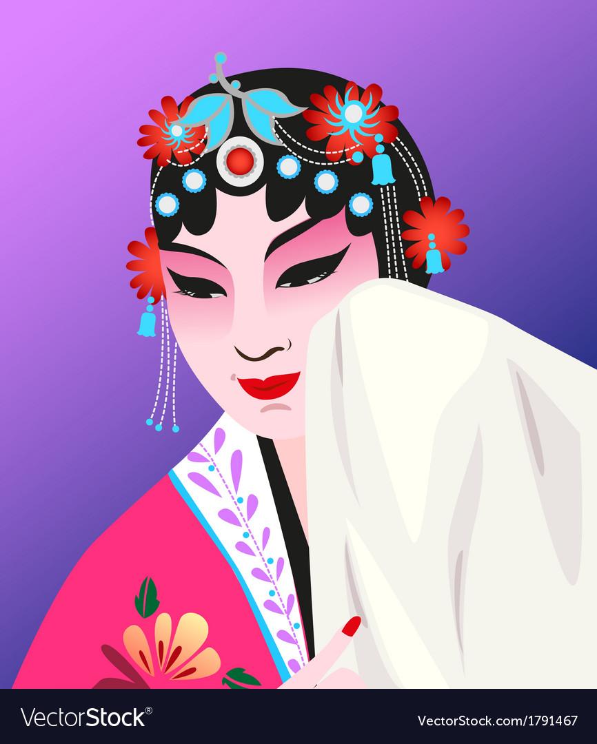 Chinese opera vector | Price: 1 Credit (USD $1)