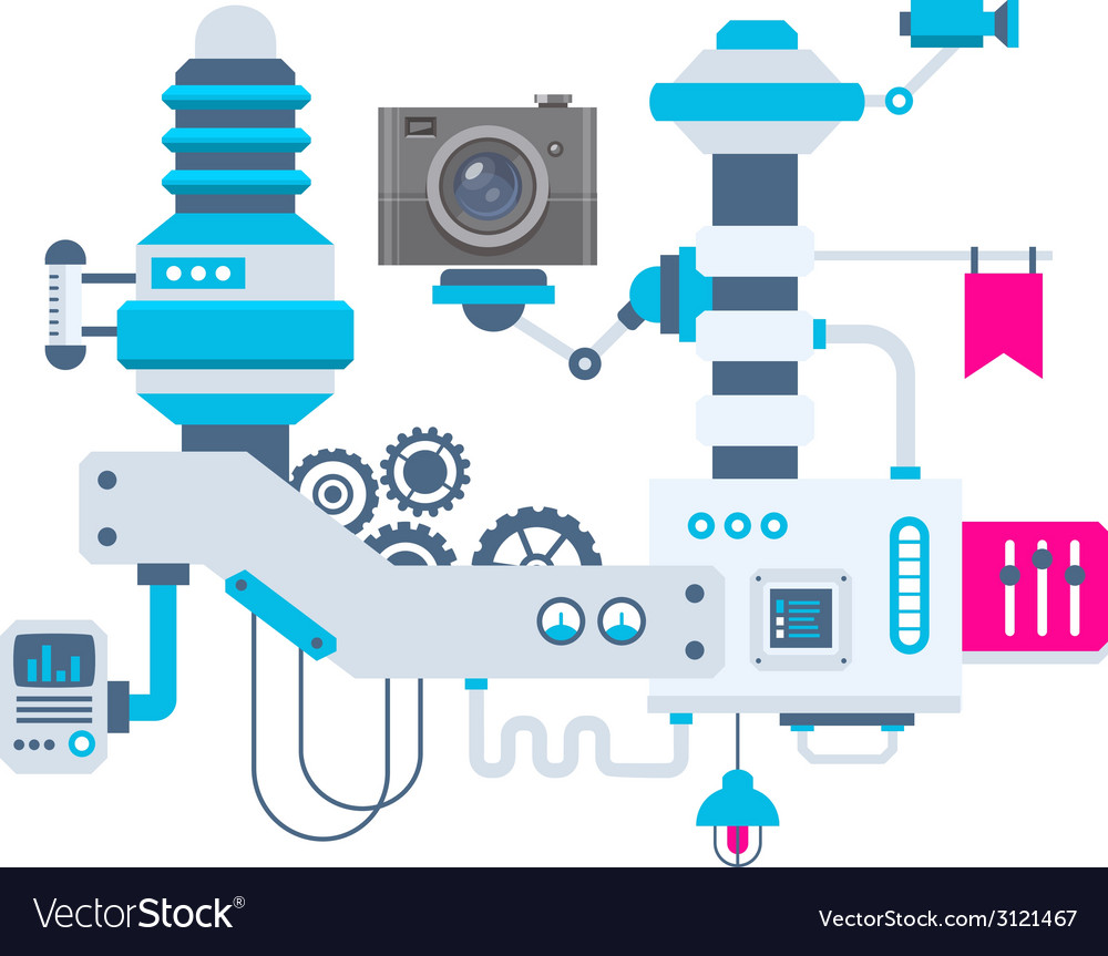 Industrial background of the factory for mea vector | Price: 1 Credit (USD $1)