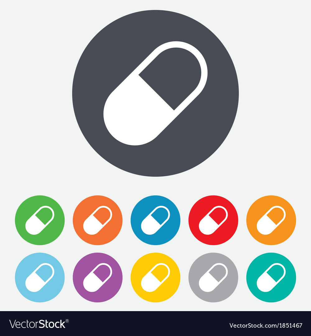 Medical pill sign icon drugs symbol vector | Price: 1 Credit (USD $1)