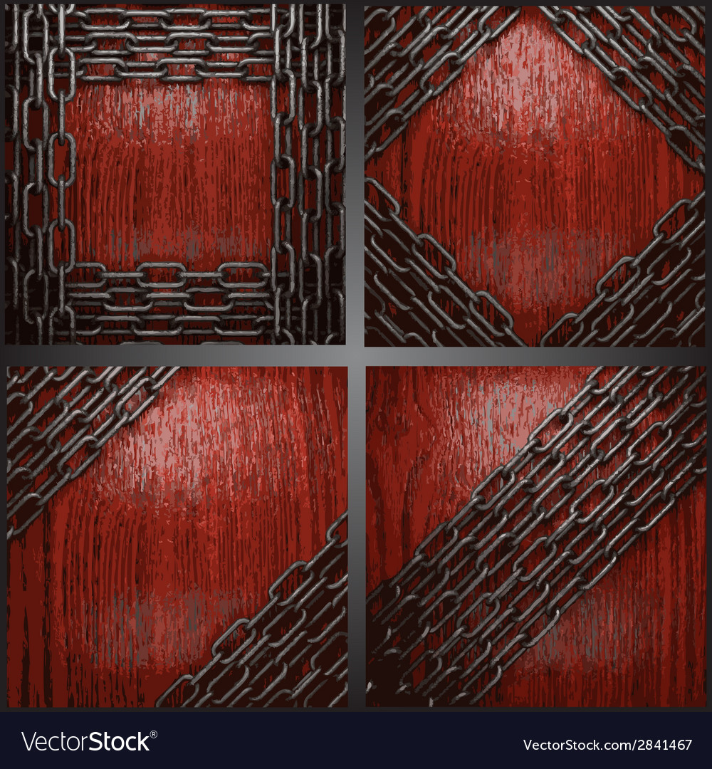 Metal on wood background set vector | Price: 1 Credit (USD $1)