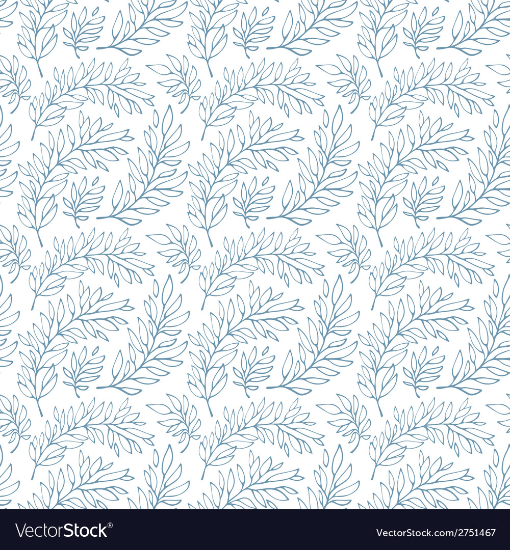 Seamless pattern decorative branches vector | Price: 1 Credit (USD $1)