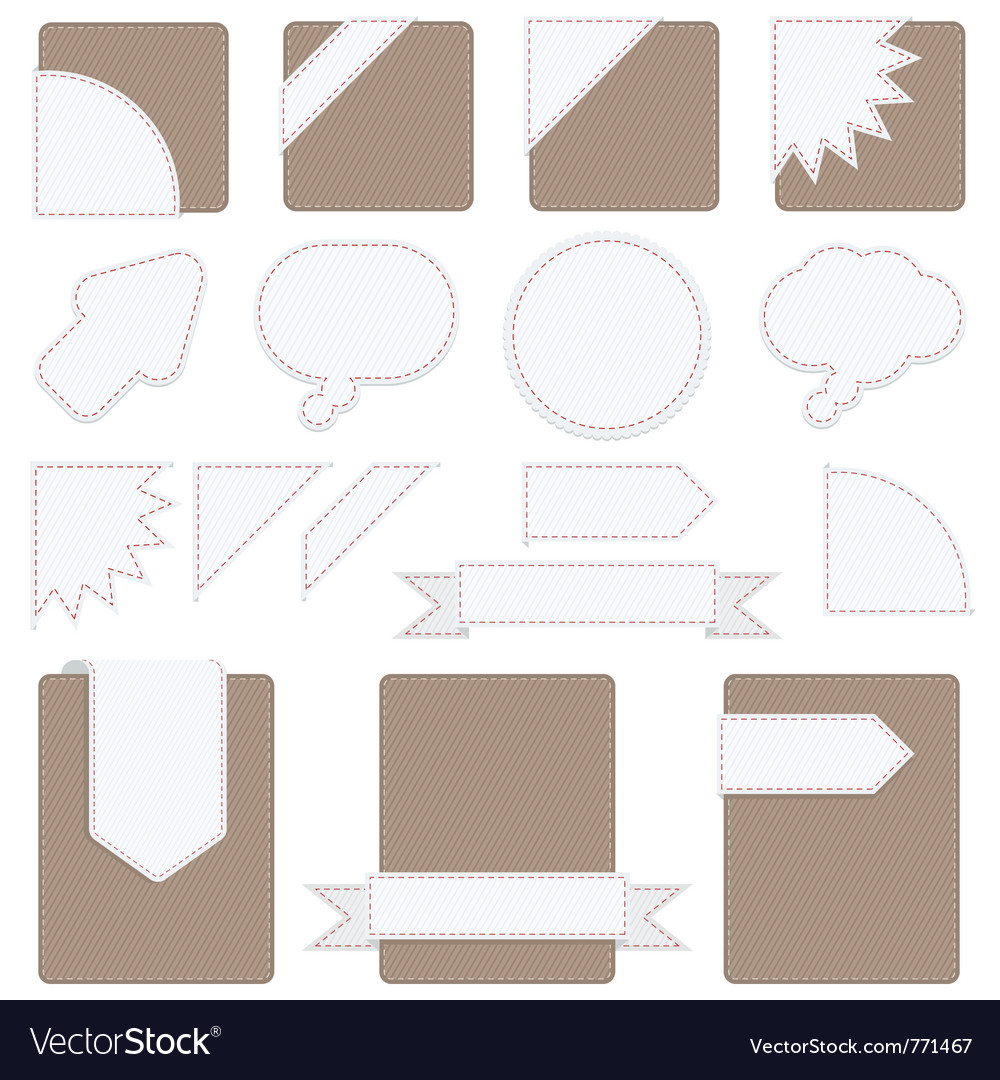 Tabs set vector | Price: 1 Credit (USD $1)